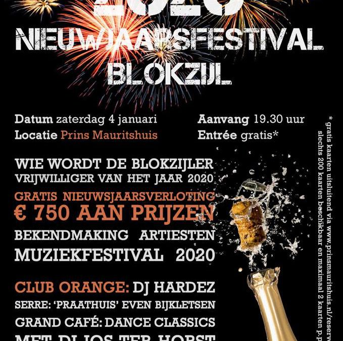 Line-Up Muziekfestival Blokzijl 2020 bekend
